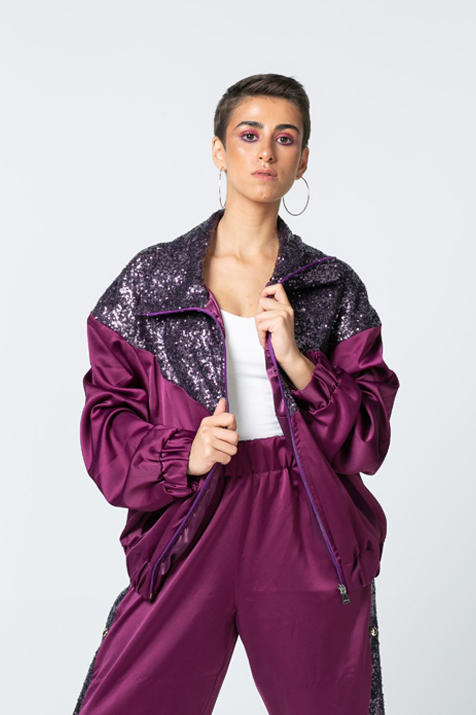 Purple Suit Jacket With Sequins – Kojak thumbnail