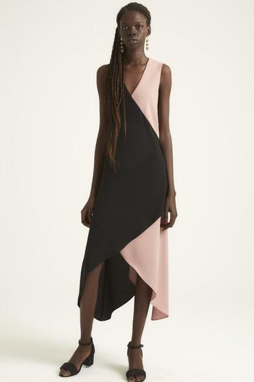 Social Morning Event Dress – Pink and Black thumbnail