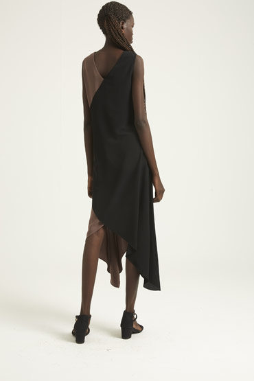 Social Evening Event Dress – Brown and Black thumbnail