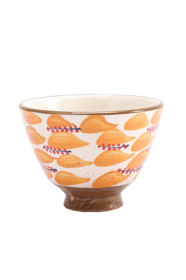 A Rice Bowl In Orange & White – Malaika thumbnail