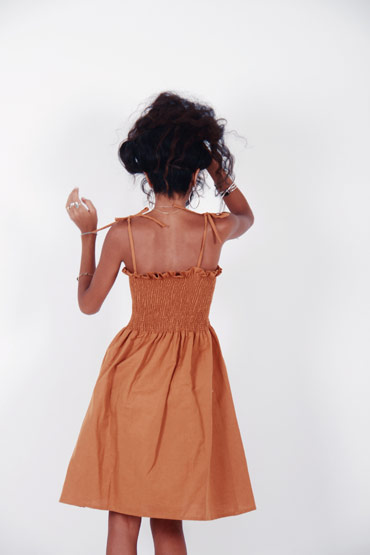 Caramel And Brunette Dress thumbnail
