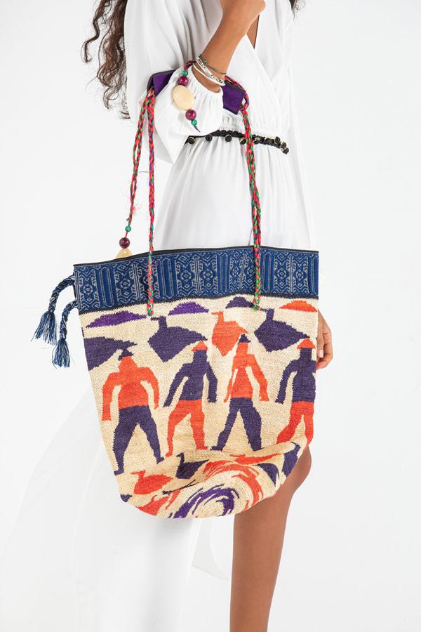 Ecuadorian Shigra Bag In Purple & Orange – Madu thumbnail