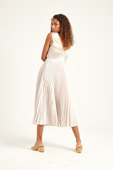 Pleated Fold Front Dress thumbnail