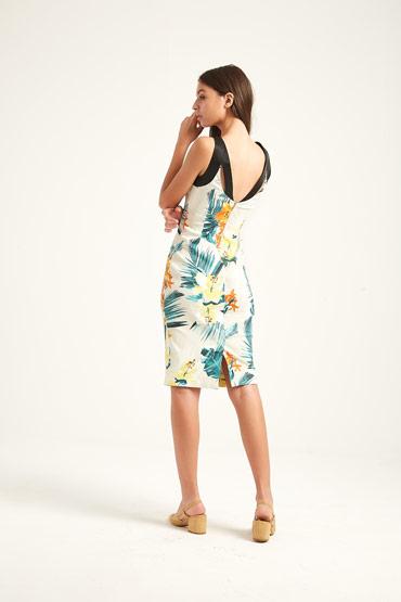 Tropical Palm Print Dress – Karen Millen thumbnail