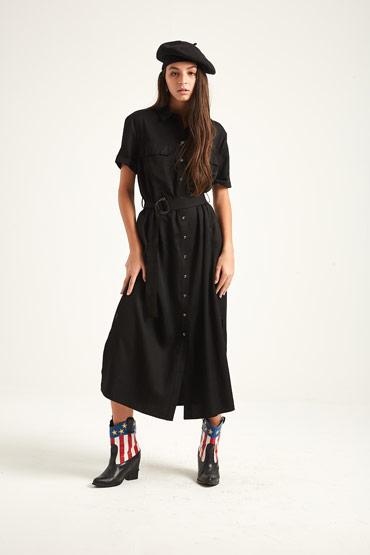 Fluid And Pleated Utility Dress – Karen Millen thumbnail