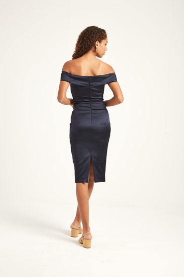 Blue Origami Pencil Dress thumbnail