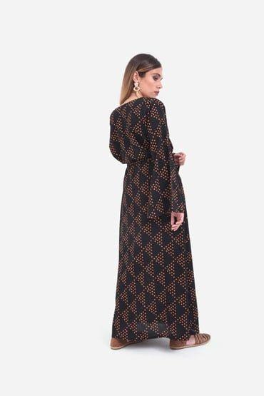 Black abaya kaftan thumbnail