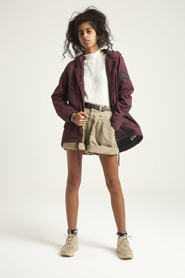 Solid Swing Parka Jacket In Burgundy – Aeropostale thumbnail
