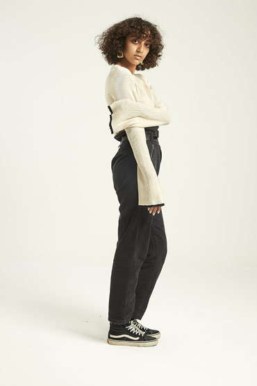 Solid Ribbed Bell-Sleeve Sweat Shirt – Aeropostale thumbnail