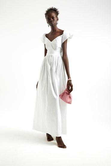 Bohemian White Dress thumbnail