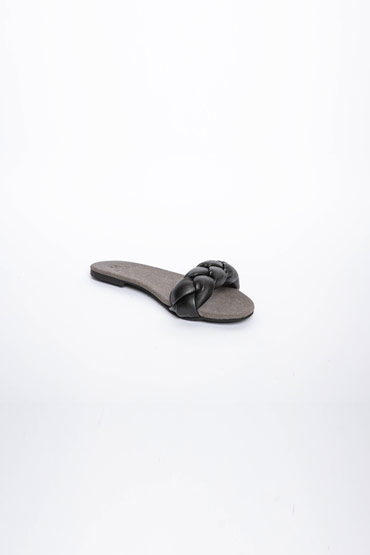 Braided Black Slippers – Misura thumbnail