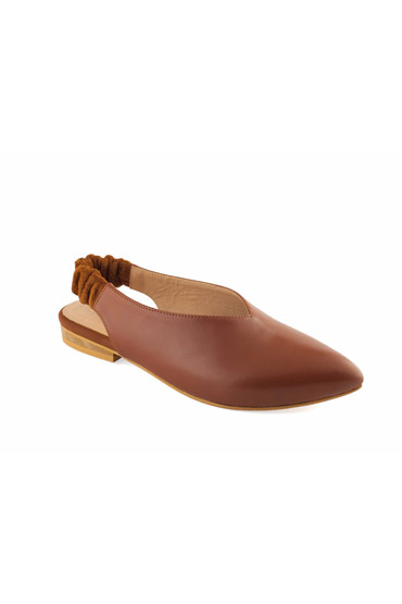 Molie Patent Mules In Camel Brown – Misura thumbnail