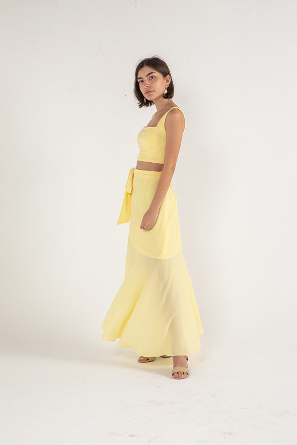 The Hilda Skirt In Yellow – Noctiluca thumbnail