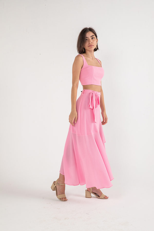 The Hilda Skirt In Pink – Noctiluca thumbnail