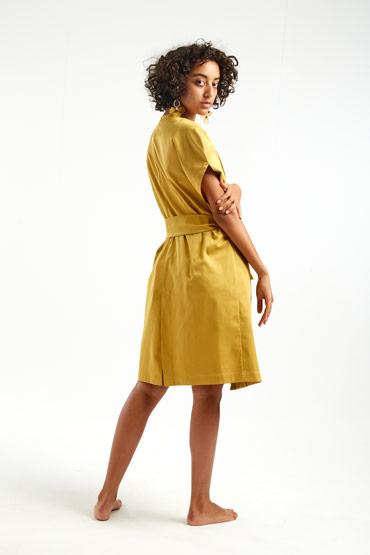 Mustard Satin Vest – Sara El Emary thumbnail