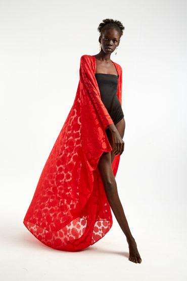 Chiffon Red Cardigan – Sara El Emary thumbnail