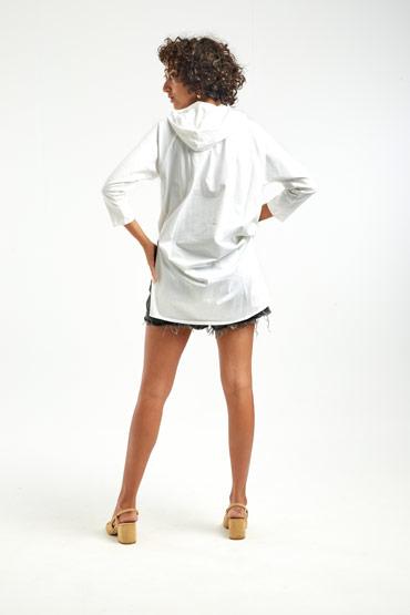 Hooded Long T-Shirt – Sara El Emary thumbnail