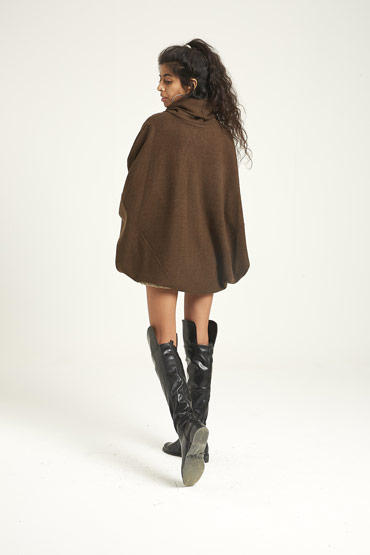 The Coffee Brown Poncho thumbnail