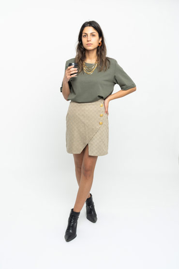 Pretty Basic Top In Olive Green thumbnail