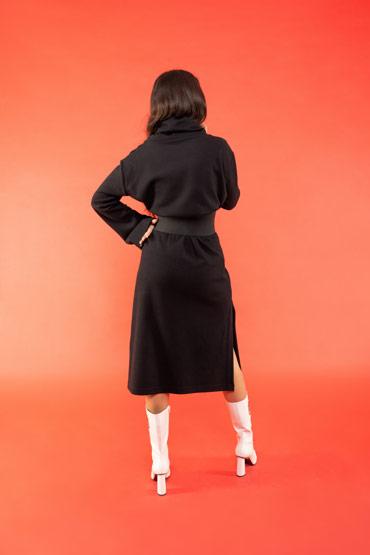 A Casual Bazic Dress In Black – Bazic thumbnail