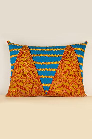 Kanga Cushion In Petrol And Havan – Madu thumbnail