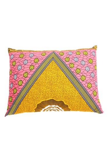 Kanga Cushion In Pink And Yellow – Madu thumbnail