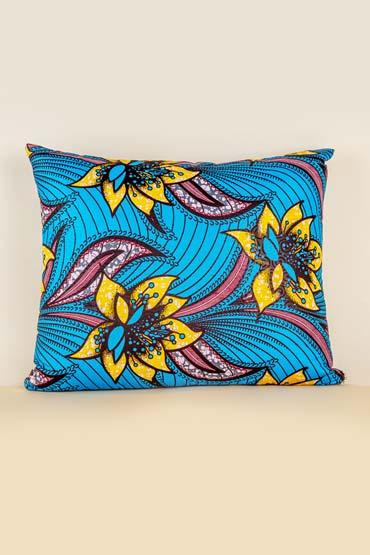 Kanga Cushion In Turquoise And Yellow – Madu thumbnail