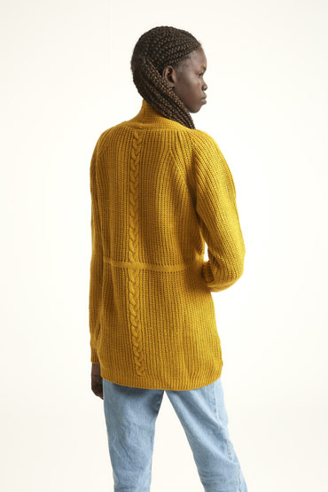 The Transitioning Cardigan In Mustard Yellow thumbnail
