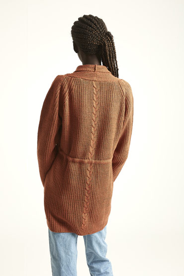 The Transitioning Cardigan In Brick Brown thumbnail