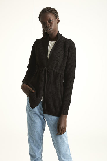 The Transitioning Cardigan In Black thumbnail