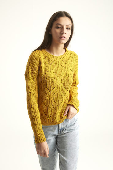 Winter Is Here Pullover In Mustard Yellow thumbnail