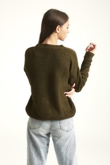 Winter Is Here Pullover In Olive Green thumbnail
