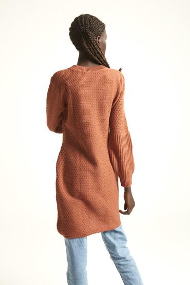 A Dress Or A Jumper In Brick Brown thumbnail