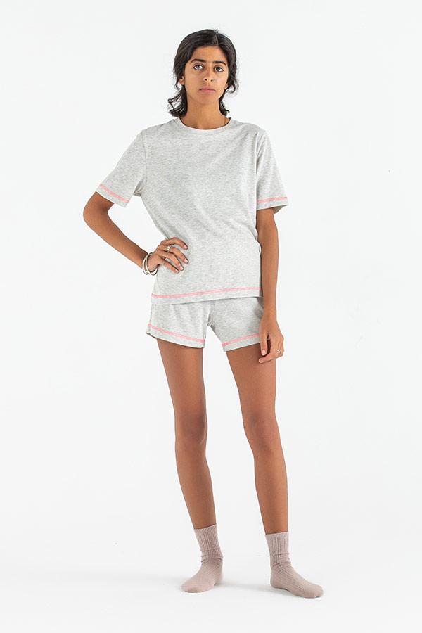 A Mini Basic Grey Pyjama Set thumbnail