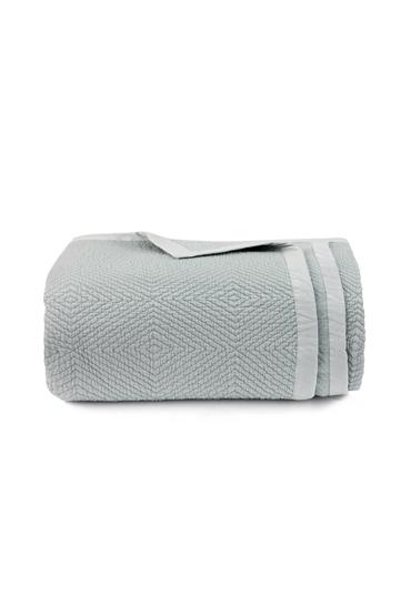 Cool Grey Jacquard Bedspread – Nillens thumbnail