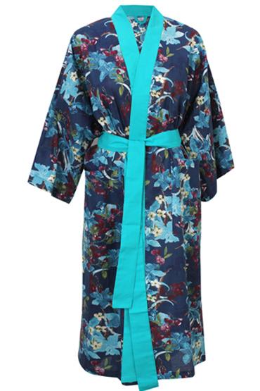 Kimono In Printed Blue – Nillens thumbnail