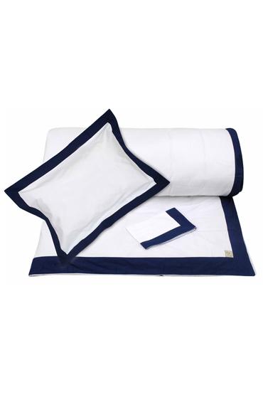 Navy Border Duvet + Pillowcases (300 TC) – Nillens thumbnail