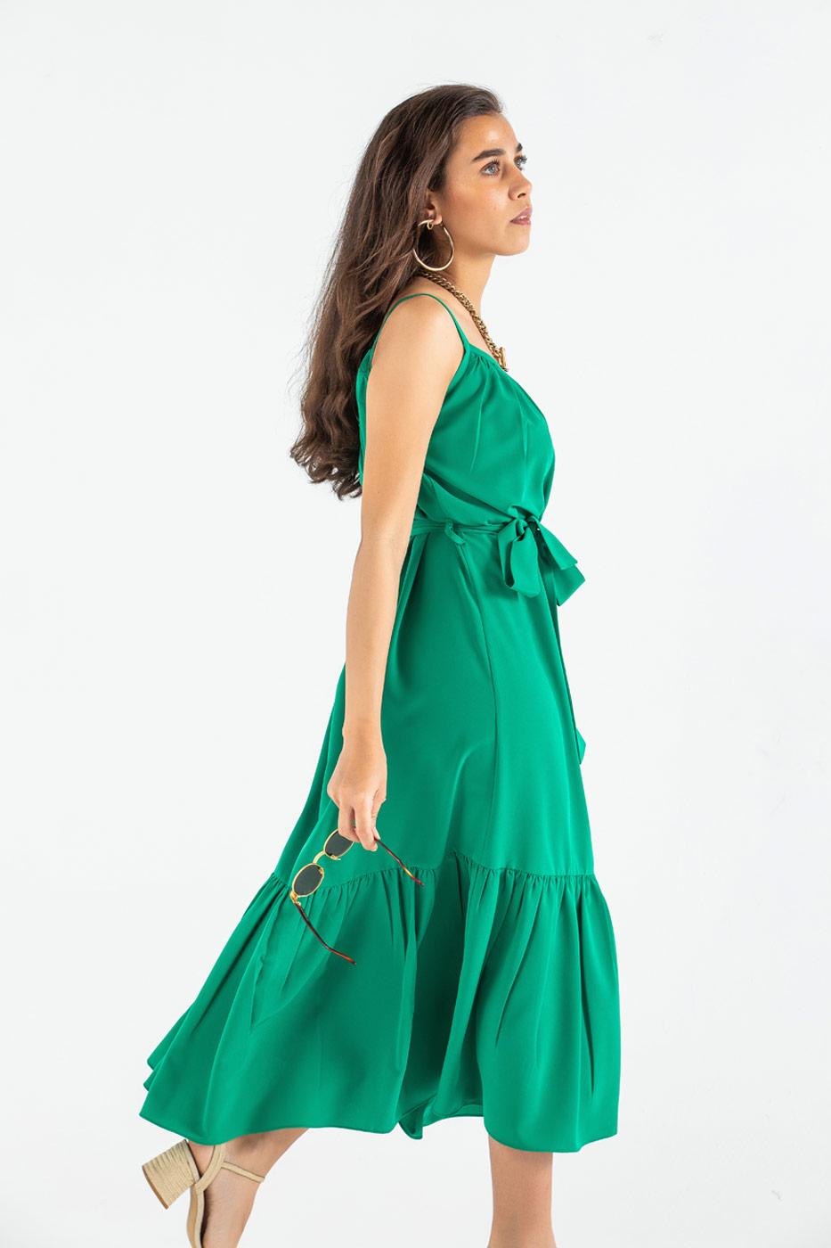 Twrill Around Emerlad Green Dress thumbnail