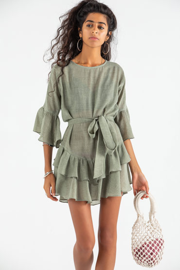 Catch Me If You Can-A Mini Ruffle Dress thumbnail