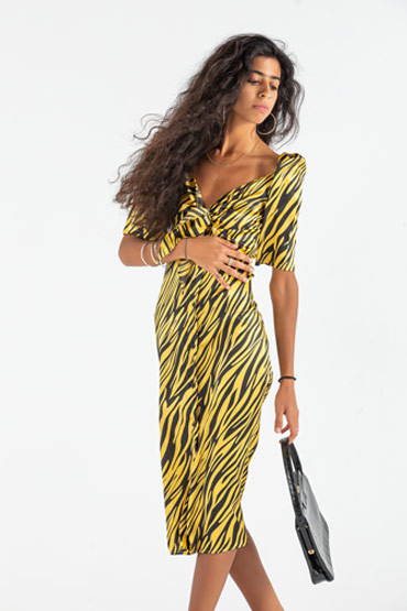 Make Him Regert Animal Print Dress thumbnail