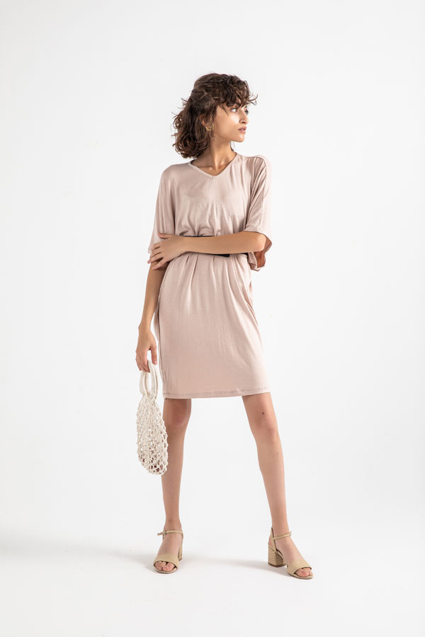 The Comfy Dress In Beige – Believe thumbnail
