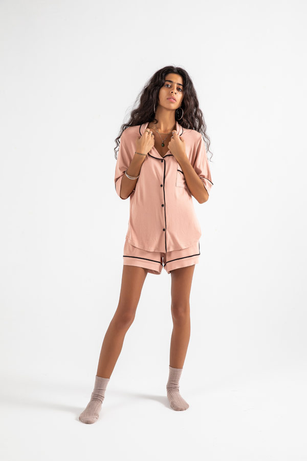 Stay Awake All Night Pyjama Set In Pink thumbnail