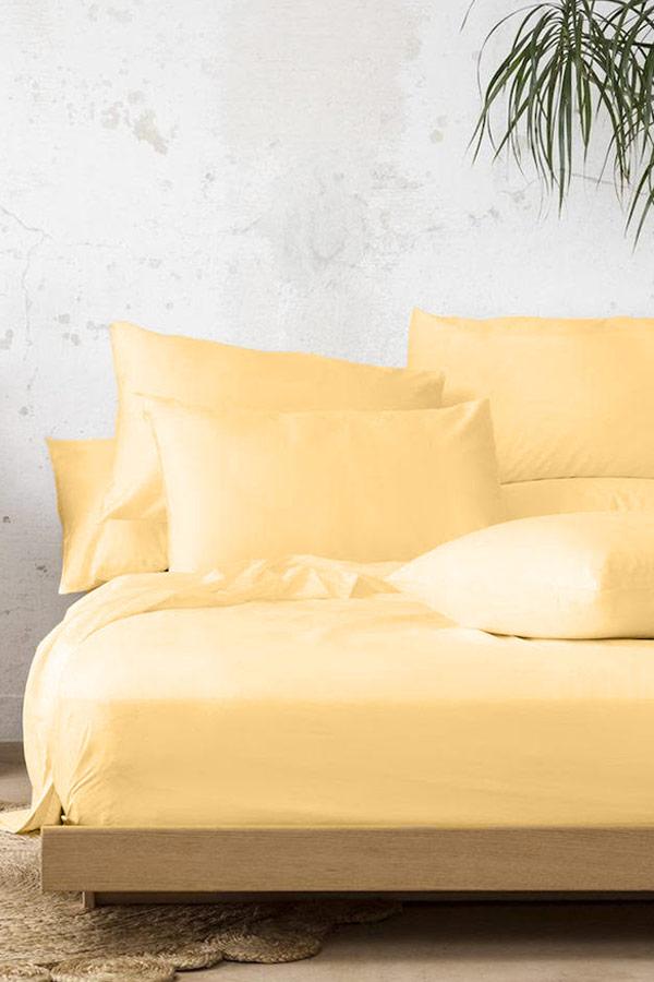 Cotton Bed Sheet Set In Yellow thumbnail