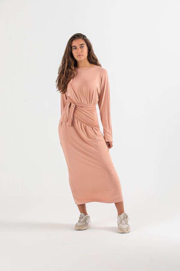 Autumn Connection Dress In Pink thumbnail