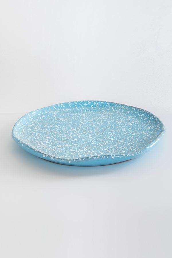 Dinner Time Plate In Light Blue thumbnail