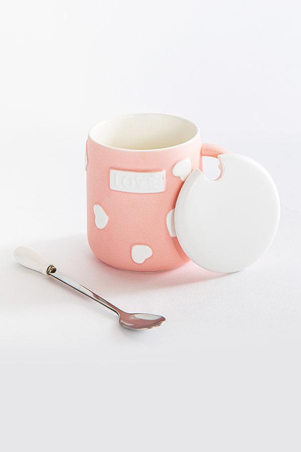 Love In The Air Mug In Pink thumbnail