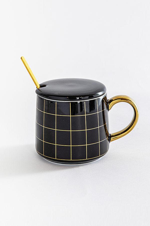 Checkered In Black Mug thumbnail