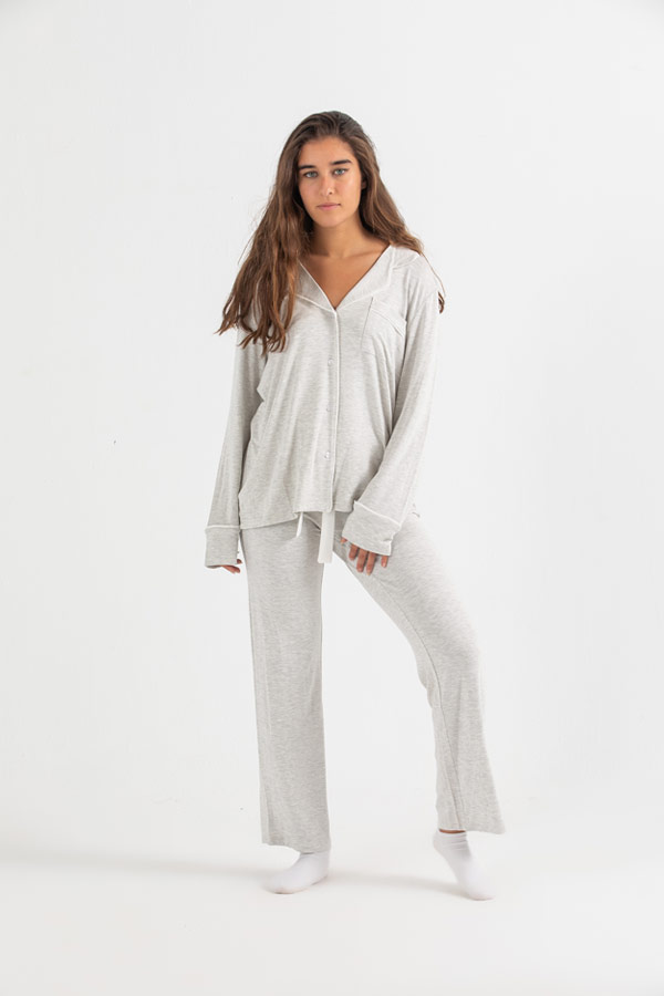 The Fall In Sleep Pyjama Set In Grey thumbnail