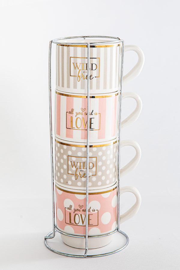 Love And Free Mug Set thumbnail