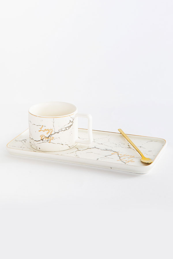 Mug with a tray In Off White thumbnail